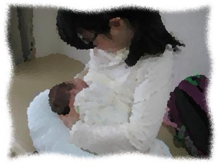 2014年2月27日Mさん2か月半月初授乳