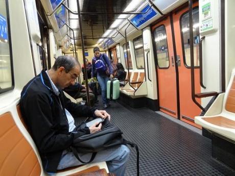 2013年5月31日地下鉄の中の様子