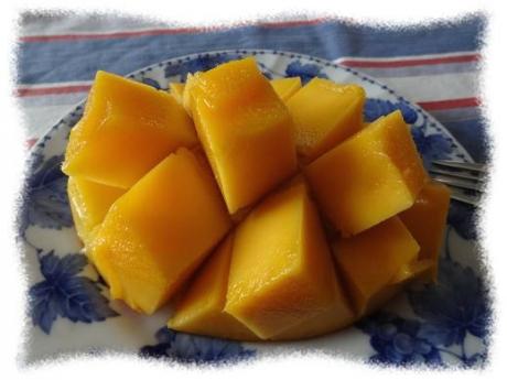 2014年8月24日朝ごはんのマンゴー