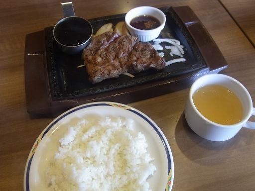 エイジングログステーキ・ライス・スープ