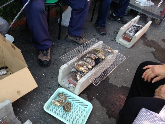 8牡蠣焼き