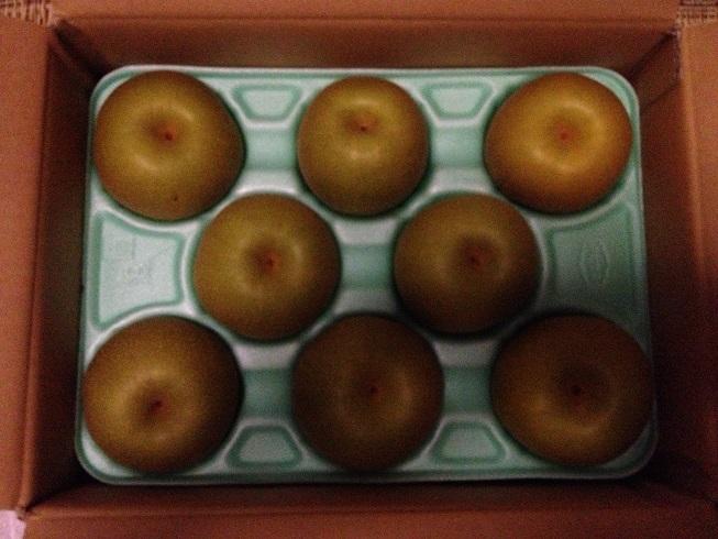 ヒョン家から梨