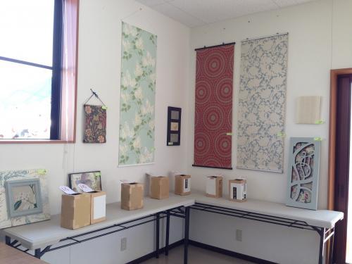 壁紙アート展示