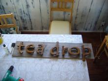 tea drop-かんばん
