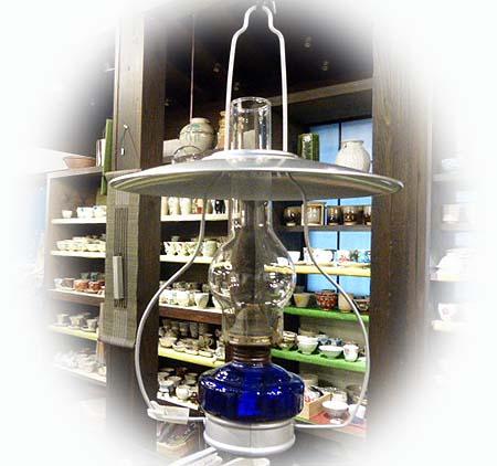 北一ガラスのランプ