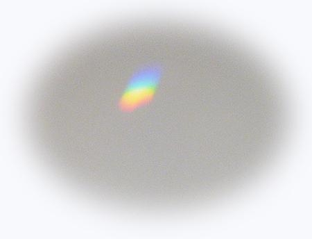 サンキャッチャ-の虹