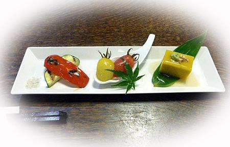 夏野菜の前菜