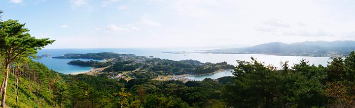 亀山展望台からの景色