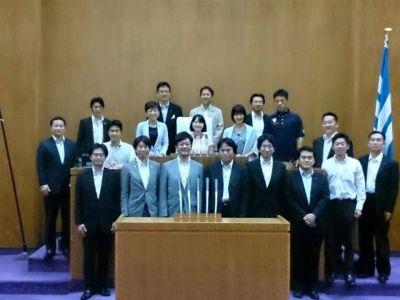 全国青年都道府県議会議員の会の総会(兵庫県) 集合写真