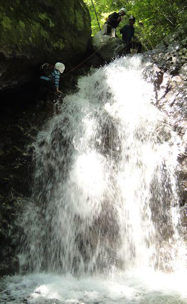ハイライトの滝のぼり