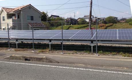 道路際の太陽光発電