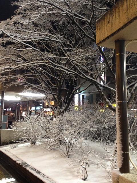 公演後の盛岡駅