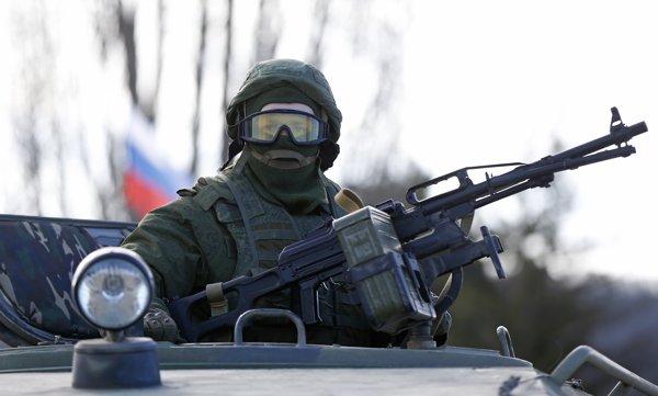 ウクライナ情勢(201433完全武装のロシア兵士)