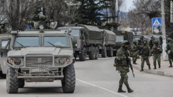 ウクライナ情勢(ロシア軍の車列)image