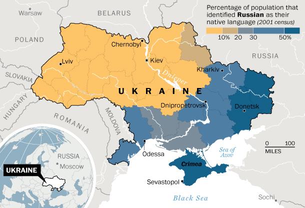 ウクライナ情勢(使用言語地図)image