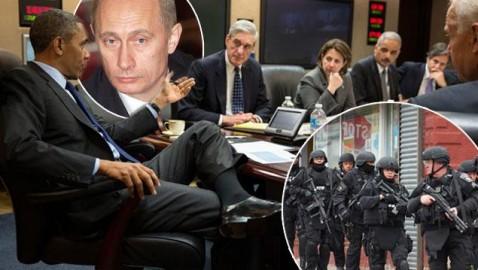 オバマ対プーチン(シリアのときのコラ)image