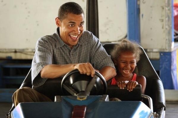 オバマ対プーチン(子供とオバマ)image