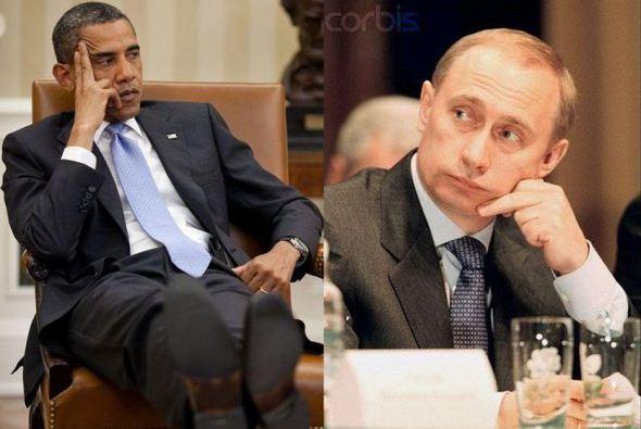オバマ対プーチン(思案)image