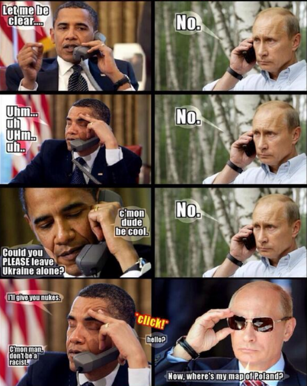 オバマ対プーチンの電話会談image