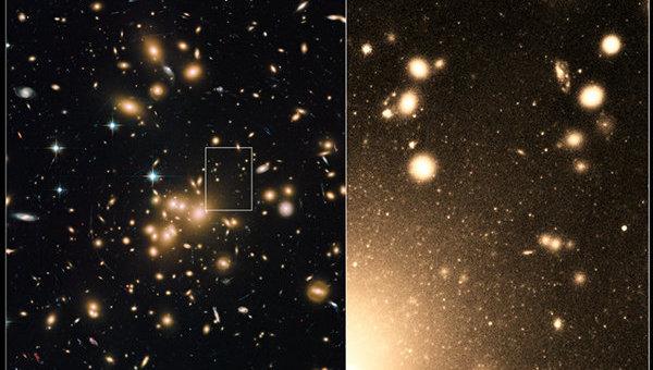 とある銀河たちのクラスター(ハッブルより)image