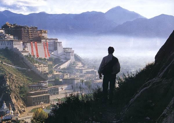 中国とチベット(遠景と人)image