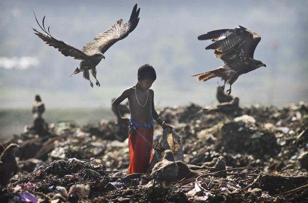 人として(インドの子供のゴミ拾い)image