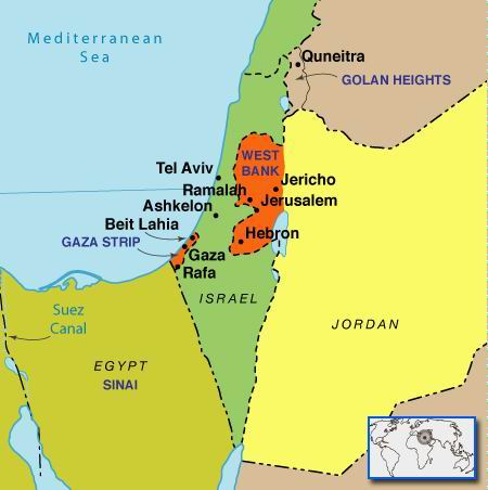 戦闘のなかで(ガザとイスラエルの地図)image