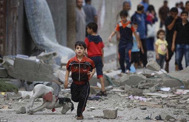 戦闘のなかで(パレスチナの子供たち)image