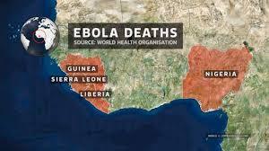 エボラ(2014現在の感染国)image