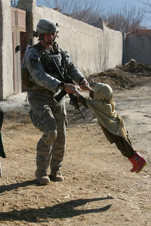 風景(米兵と子供)image