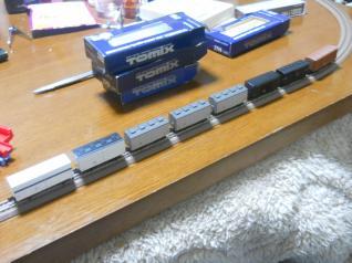 2軸貨車8両連結!