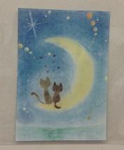 かわいいイラスト💛月と猫