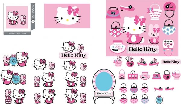 ハローキティ クリップアート hello kitty official vector