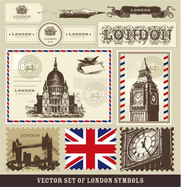 ロンドンをテーマにした封筒 London envelopes