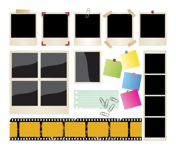古いフォトフレームOld photographs paper clipsGrunge Frames2
