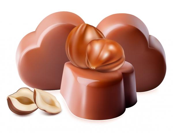 チョコレート キャンディのクリップアート chocolate candy clip art1