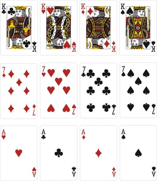 トランプのクリップアート Playing cards vector