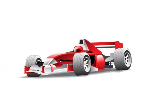 レーシングカーとバイクのクリップアート F1 racing and motorcycle vector