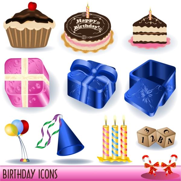 誕生日グッズとファーストフード birthday vector goods and fast food