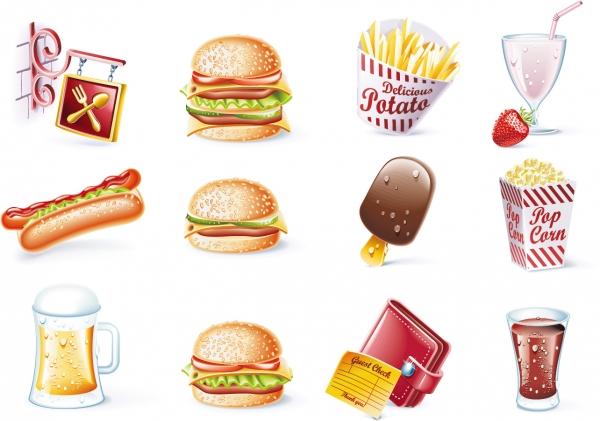 誕生日グッズとファーストフード birthday vector goods and fast food2