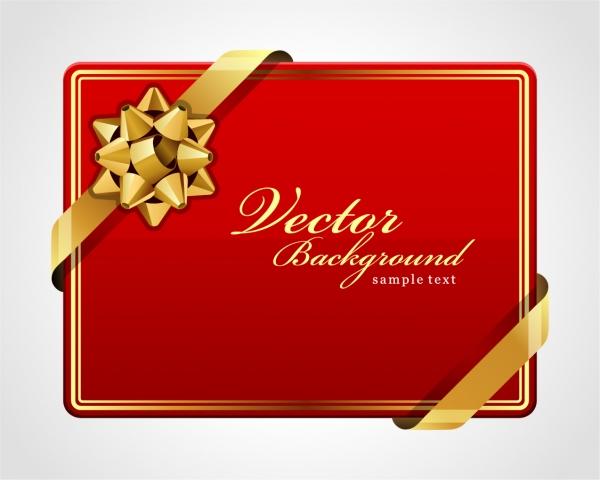 リボン飾りのカード テンプレート beautiful holiday card3