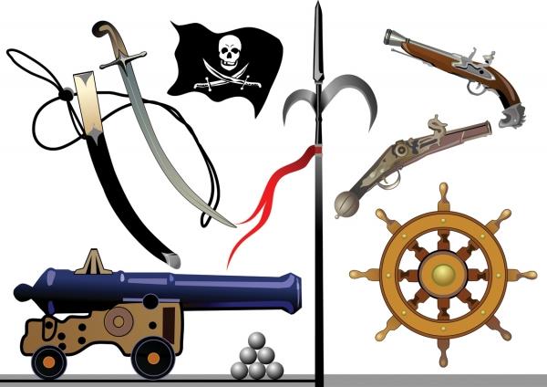 海賊に因んだクリップアート pirates clip art equipment3