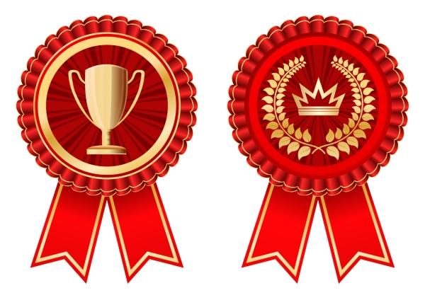 表彰バッジ デザイン見本 practical badge medal vector