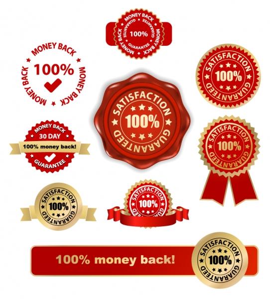 表彰バッジ デザイン見本 practical badge medal vector2