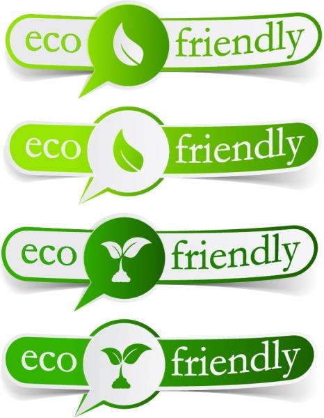 エコをテーマにしたラベル green theme label banner design