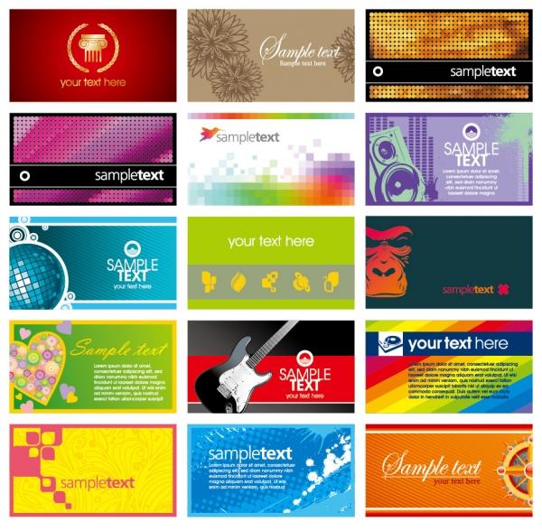 流行のカードテンプレート card template vector the trend