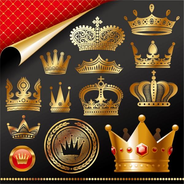 黄金の王冠クリップアート emperor gold crown