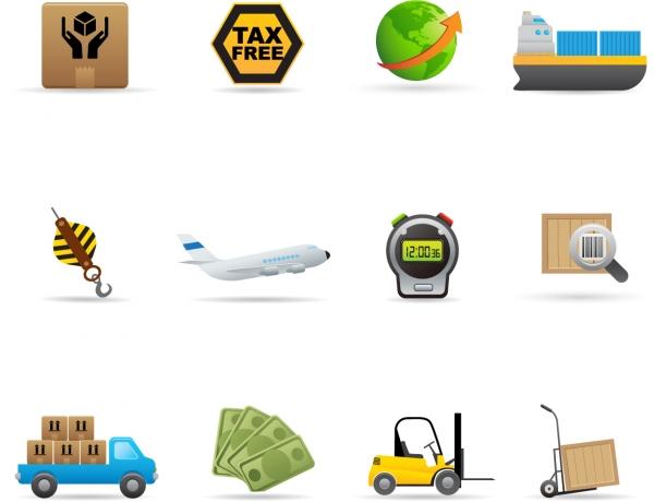 運搬・流通関連のアイコン Delivery Icon Vector Set