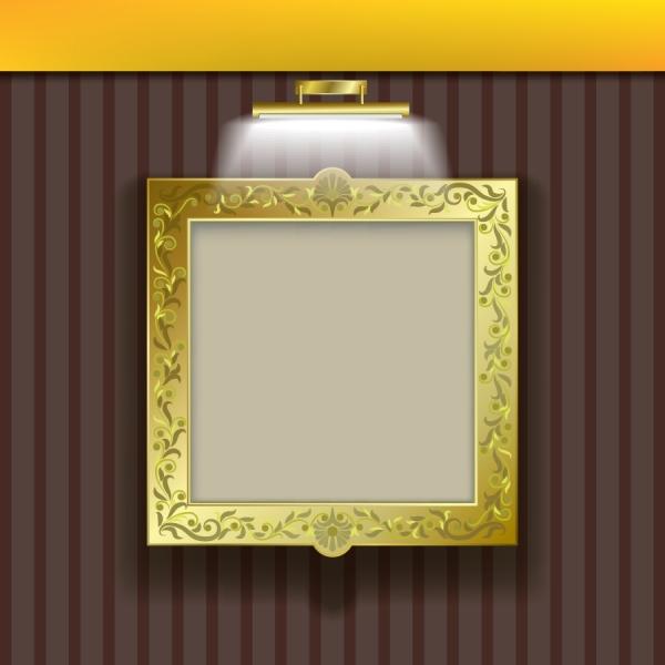 ライトで照らす豪華な額縁 lighting lamps photo frame