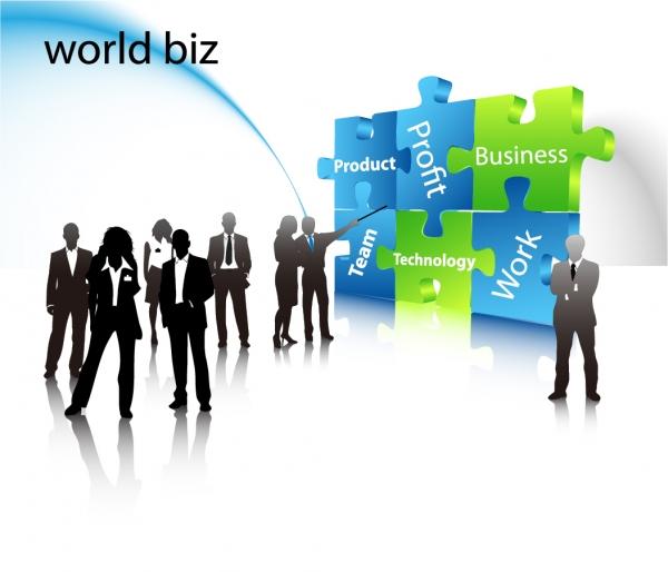 ビジネスマンのシルエット business people silhouette vector2